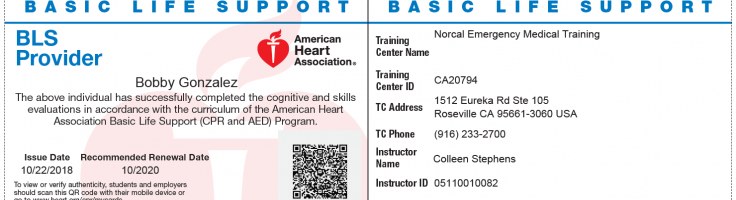e_card_final - NorCal CPR Training Classes Sacramento, CPR Training